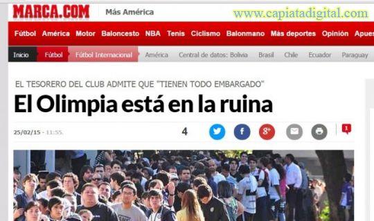 Drama de Olimpia atraviesa fronteras y llega a los medios del mundo