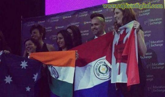 Microsoft premia a paraguayo en foro mundial de educación