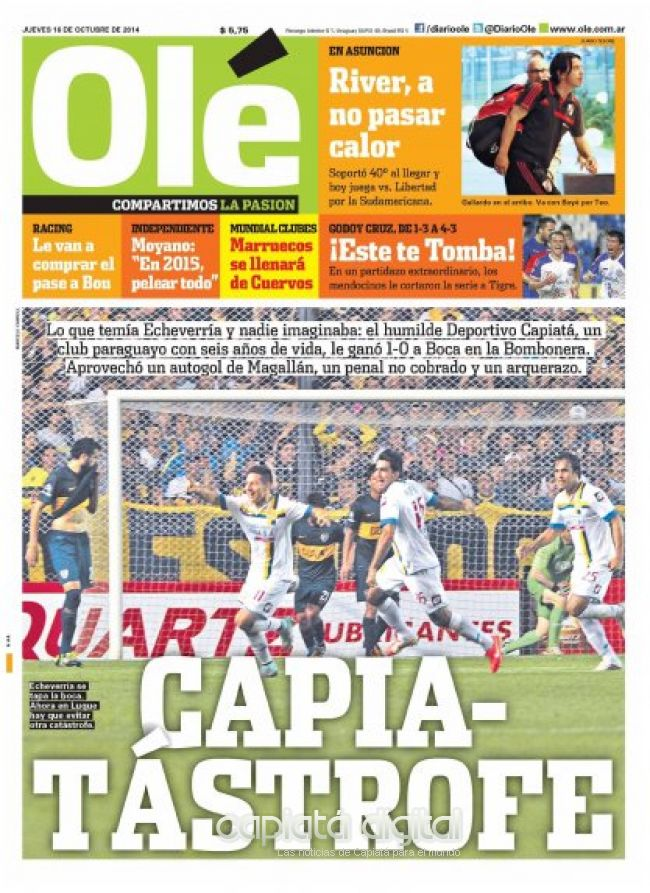 Capiatá cerca de la Copa Libertadores
