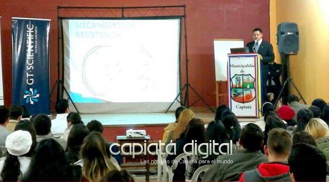 Exitosa  charla sobre antimicrobianos en Capiatá