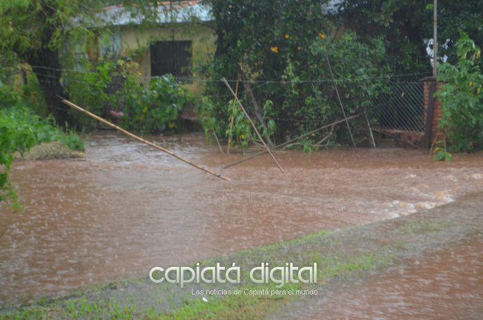 Torrencial lluvia y el drama de siempre