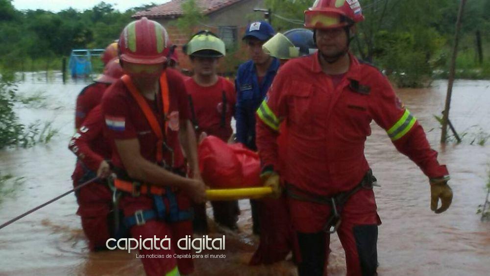 Intensas lluvias dejan varias familias damnificadas en Capiatá
