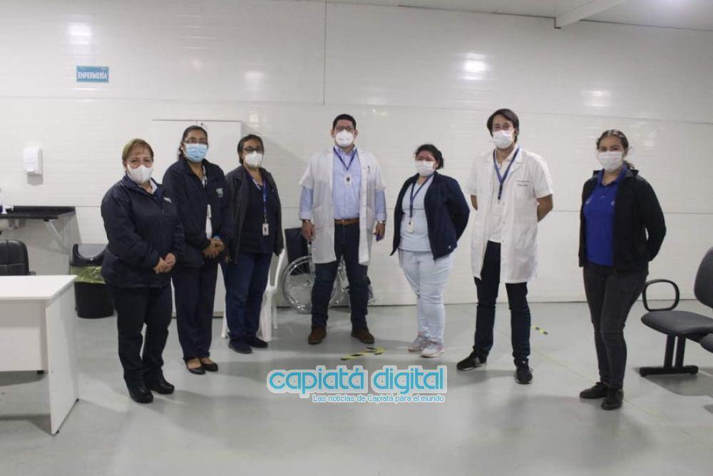 Habilitan primer vacunatorio anti Covid del país en Capiatá