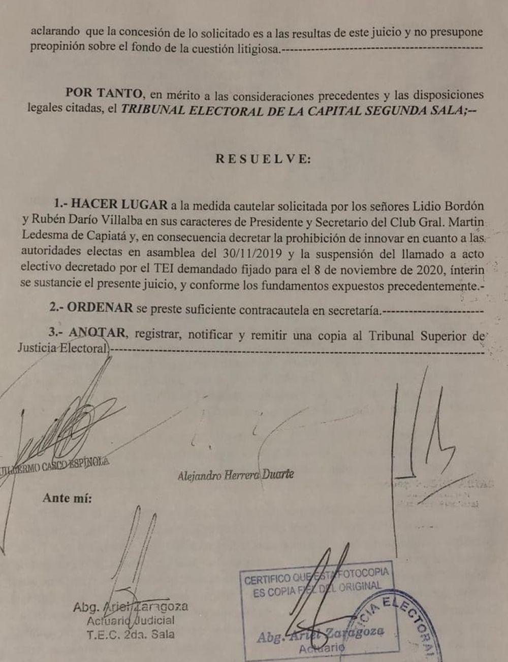 Otra vez asume otra directiva en el Martín Ledesma