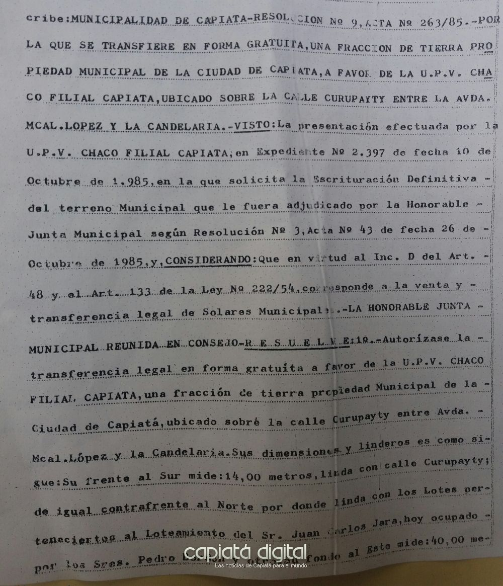 Abogado dice que el título original del local de la UPV había entregado a la Junta Municipal