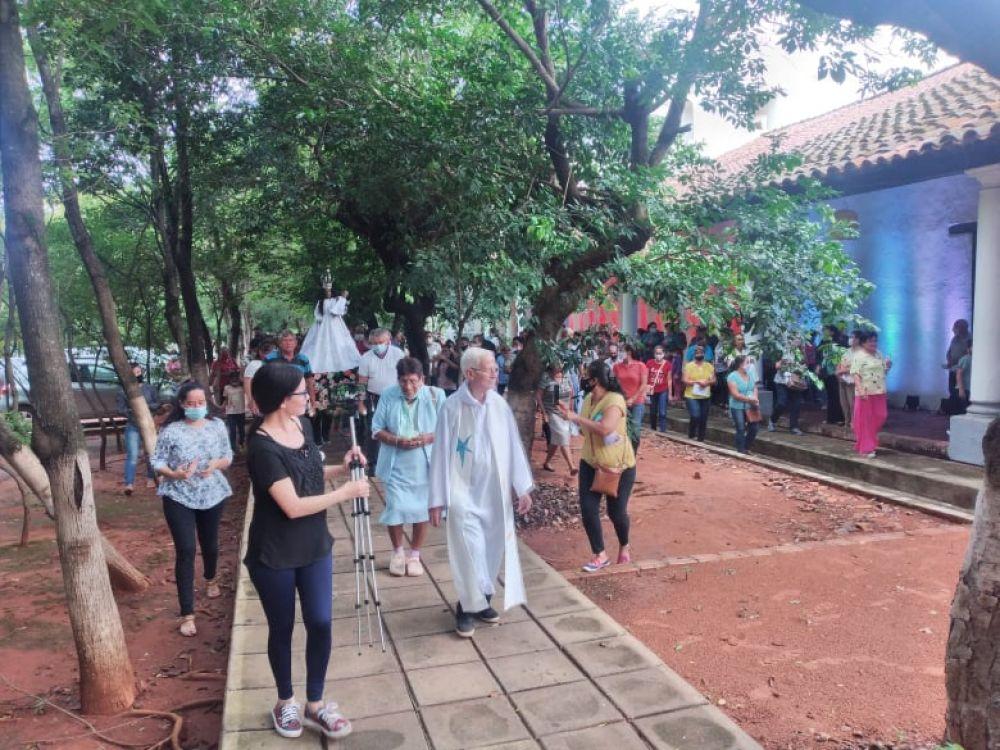 Mucha concurrencia en misa y procesión de cierre de los festejos patronales